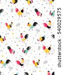 Simple Pattern With Roosters I...
