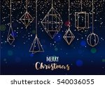 merry christmas blue background.... | Shutterstock .eps vector #540036055
