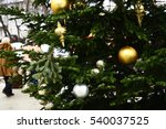 decorations on the christmas... | Shutterstock . vector #540037525