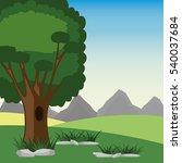 tree in a mountain landscape | Shutterstock .eps vector #540037684