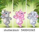 set of three african animals | Shutterstock .eps vector #540041065