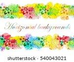floral seamless border  vector... | Shutterstock .eps vector #540043021