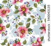 watercolor decorative floral...   Shutterstock . vector #540043135
