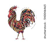 illustration rooster inspired... | Shutterstock .eps vector #540046465