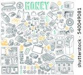money vector drawings... | Shutterstock .eps vector #540049081