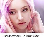 anime style female portrait ... | Shutterstock . vector #540049654