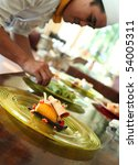 mango roll cake   Shutterstock . vector #54005311