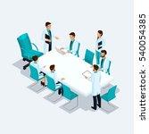 set isometric health care... | Shutterstock .eps vector #540054385