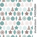 christmas seamless pattern with ... | Shutterstock .eps vector #540056884