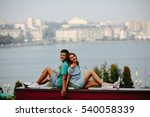 man and woman together on a... | Shutterstock . vector #540058339