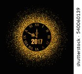 2017 new year gold background... | Shutterstock .eps vector #540060139