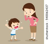 teacher have worry and rampage... | Shutterstock .eps vector #540062437