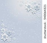 winter snowflakes card | Shutterstock .eps vector #540064321