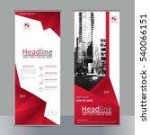 set business roll up banner... | Shutterstock .eps vector #540066151