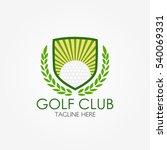 golf club logo design template... | Shutterstock .eps vector #540069331