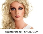 mannequin with long blond hair... | Shutterstock . vector #54007069