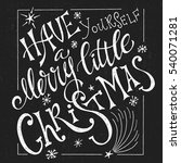christmas typographic design... | Shutterstock .eps vector #540071281
