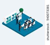 isometric room multistoried... | Shutterstock .eps vector #540073381