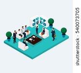 isometric room multistoried... | Shutterstock .eps vector #540073705