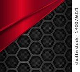 hexagon metal background. black ... | Shutterstock .eps vector #540076021
