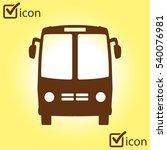 bus icon. schoolbus simbol. | Shutterstock .eps vector #540076981