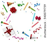 birthday background with gift... | Shutterstock .eps vector #540079759