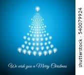shining christmas tree made of... | Shutterstock .eps vector #540079924
