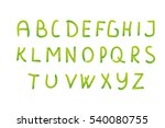 alphabet. watercolor letters.... | Shutterstock .eps vector #540080755