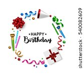 happy birthday background with... | Shutterstock .eps vector #540082609