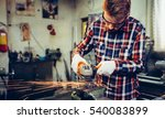 young manual worker working... | Shutterstock . vector #540083899