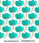 floral seamless pattern. hand... | Shutterstock .eps vector #540085231