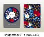 cover design with floral... | Shutterstock .eps vector #540086311