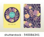 cover design with floral... | Shutterstock .eps vector #540086341
