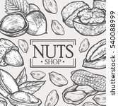 organic nuts food shop hand... | Shutterstock . vector #540088999