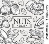 organic nuts food shop hand... | Shutterstock . vector #540088999