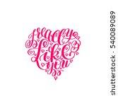i really like you. love letter... | Shutterstock .eps vector #540089089