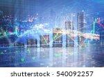 double explosure with businesss ... | Shutterstock . vector #540092257