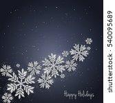 vector christmas new year... | Shutterstock .eps vector #540095689