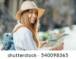 travel guide  tourism in europe ... | Shutterstock . vector #540098365
