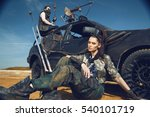 woman in brutal style clothes... | Shutterstock . vector #540101719