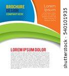 professional business design... | Shutterstock .eps vector #540101935