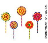 lollipops with glaze. five... | Shutterstock .eps vector #540102421