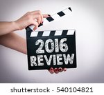 2016 review concept. female... | Shutterstock . vector #540104821