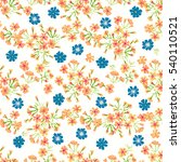 simple cute pattern in small... | Shutterstock .eps vector #540110521