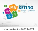 marketing strategy on colorful... | Shutterstock .eps vector #540114271