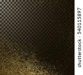 golden texture on transparent... | Shutterstock .eps vector #540115897
