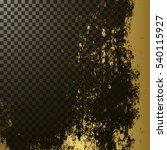 golden texture on transparent... | Shutterstock .eps vector #540115927