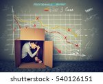 sad stressed woman sitting... | Shutterstock . vector #540126151