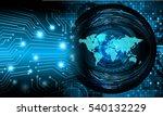future technology  blue eye...   Shutterstock . vector #540132229