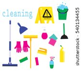 cleaning service flat... | Shutterstock .eps vector #540134455